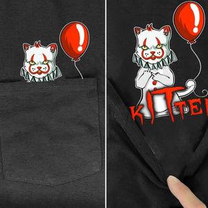 Funny Kitten Clown Balloon Shirt Halloween Costume